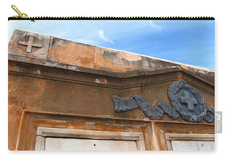Cemetery Carry-all Pouch featuring the photograph Grave II by Beth Vincent