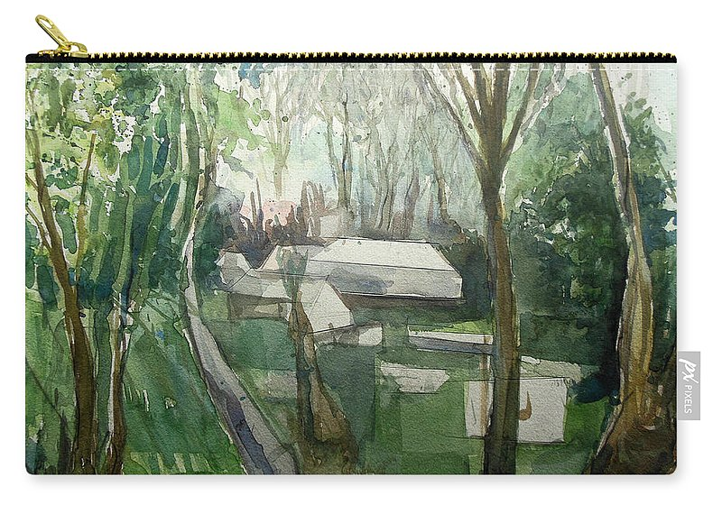 Graveyard Carry-all Pouch featuring the painting Graveyard by Lucia Hoogervorst