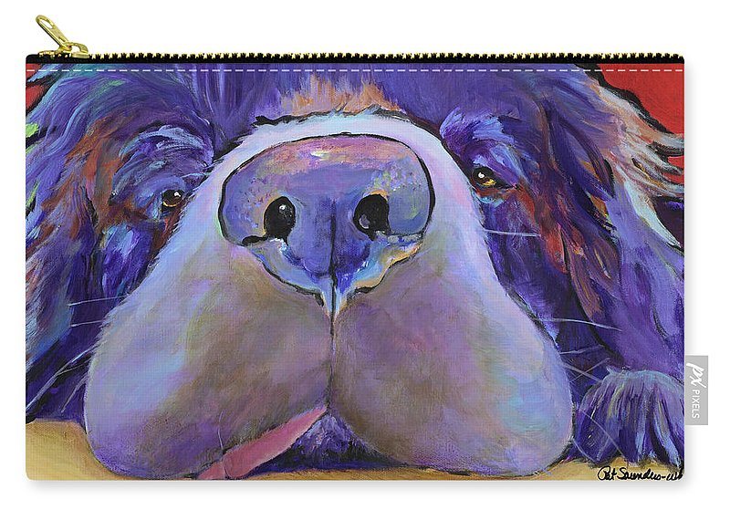 Pat Saunders-white Canvas Prints Carry-all Pouch featuring the painting Graysea by Pat Saunders-White