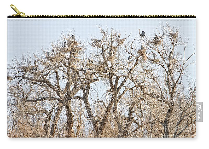 Animals Carry-all Pouch featuring the photograph Great Blue Heron Colony by James BO Insogna
