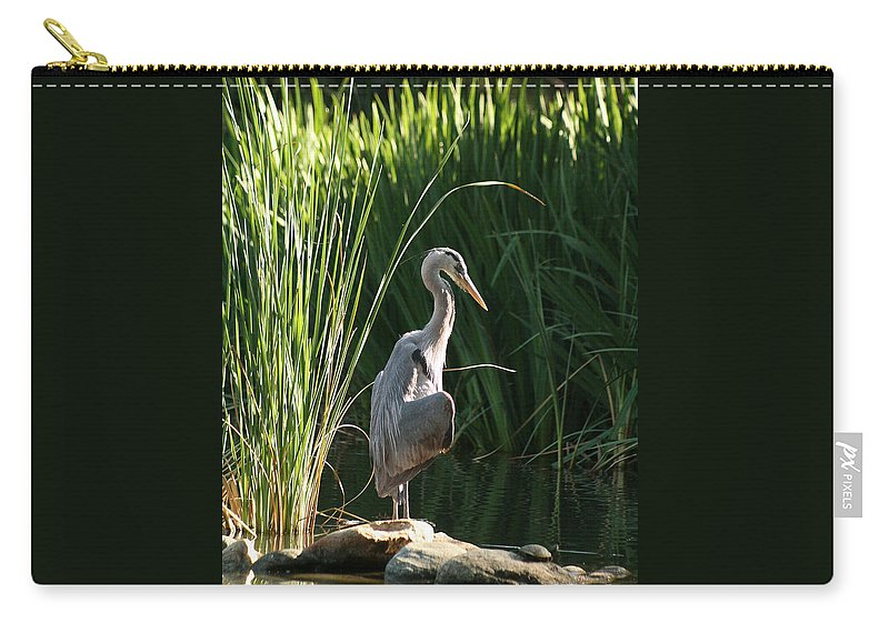 Great Blue Heron Carry-all Pouch featuring the photograph Great Blue Heron by Ellen Henneke