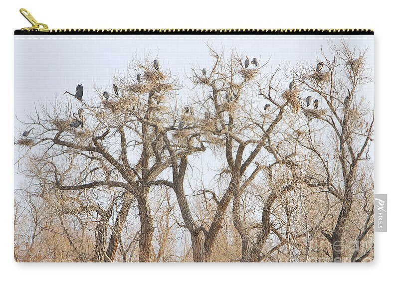 Blue Heron Carry-all Pouch featuring the photograph Great Blue Heron Hangout by James BO Insogna