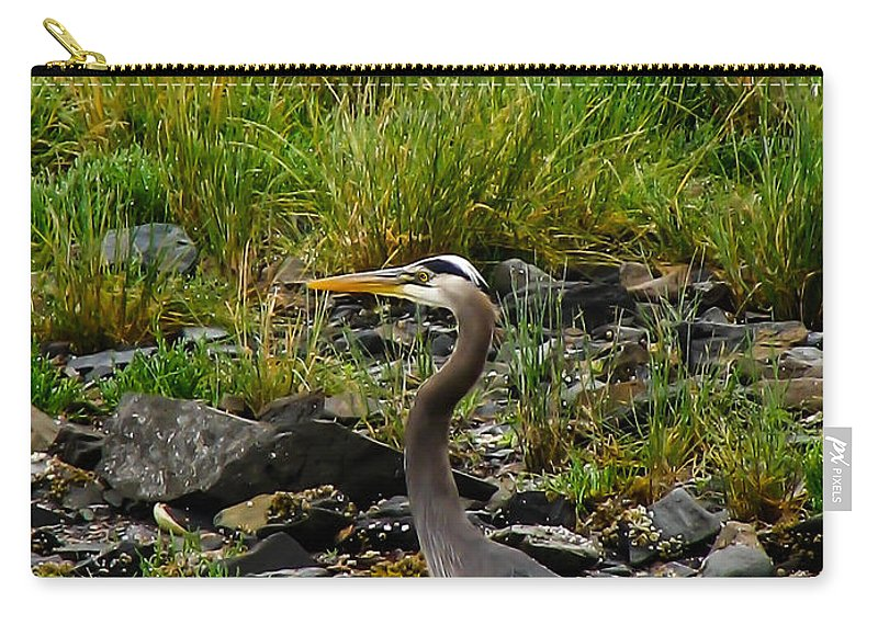 Birds Carry-all Pouch featuring the photograph Great Blue by Robert Bales