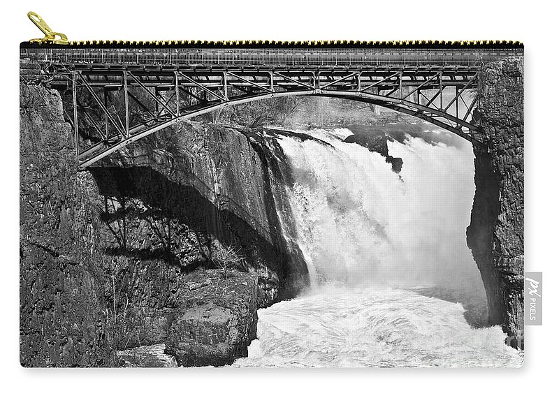 Great Falls Carry-all Pouch featuring the photograph Great Falls In Paterson Nj by Anthony Sacco