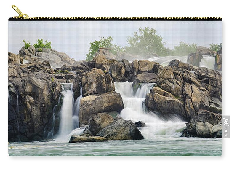 Scenics Carry-all Pouch featuring the photograph Great Falls Panoramic by Ogphoto