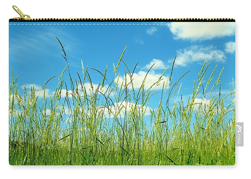 Nature Carry-all Pouch featuring the photograph Great Fields by Art Dingo