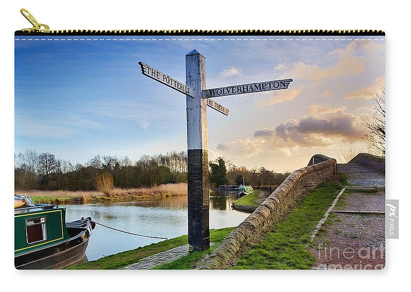 Haywood Junction Carry-all Pouch featuring the photograph Great Haywood Junction by Ann Garrett