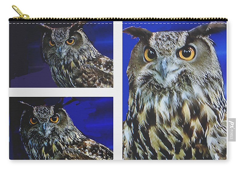 Owl Carry-all Pouch featuring the photograph Great Horned Owl by Jay Milo