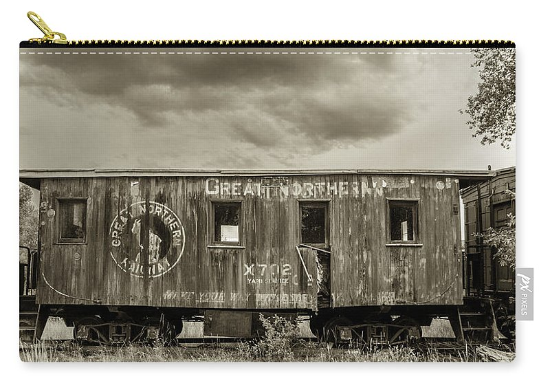 Great Northern Caboose Carry-all Pouch featuring the photograph Great Northern Caboose by Fran Riley