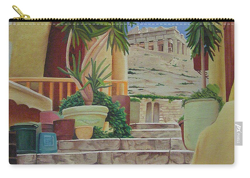 Greece Carry-all Pouch featuring the painting Greece by Joshua Morton