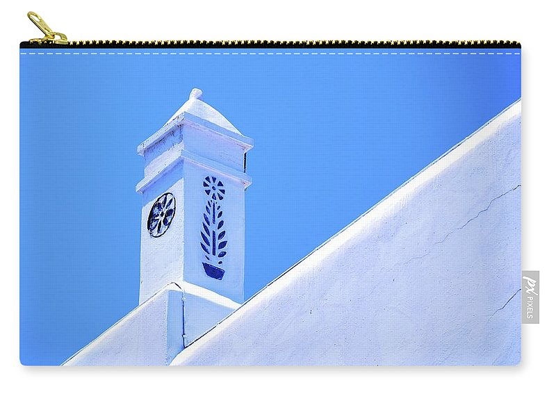 Greece Carry-all Pouch featuring the photograph Greek Details by Corinne Rhode