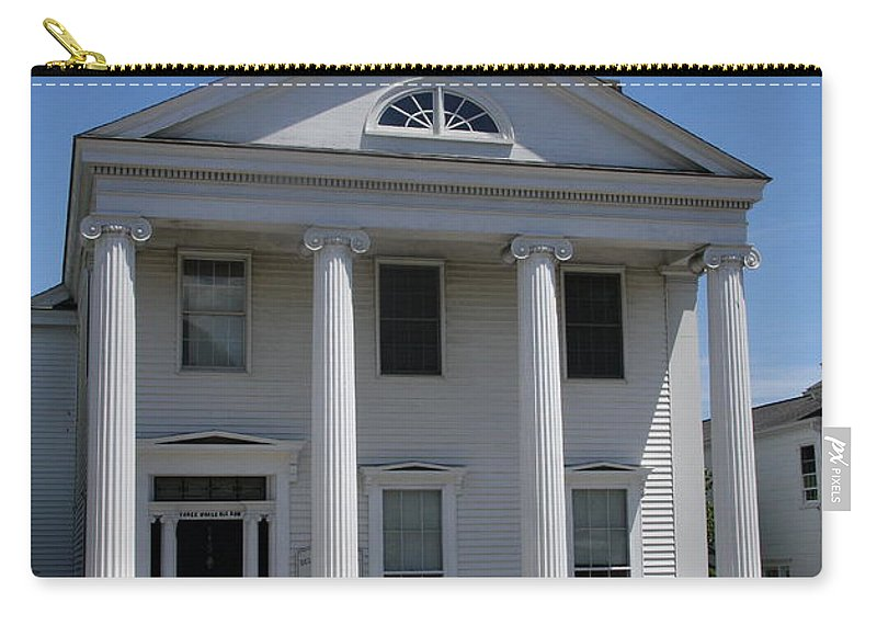 House Carry-all Pouch featuring the photograph Greek Revival House - New London Ct by Christiane Schulze Art And Photography