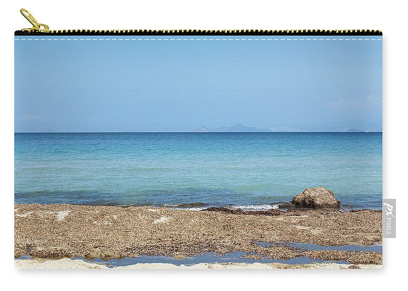 Greek Culture Carry-all Pouch featuring the photograph Greek Sea by Deimagine
