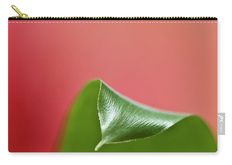 Heiko Carry-all Pouch featuring the photograph Green And Red by Heiko Koehrer-Wagner