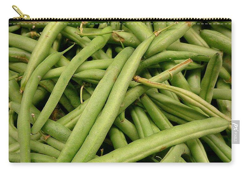 Joseph Skompski Carry-all Pouch featuring the photograph Green Beans by Joseph Skompski