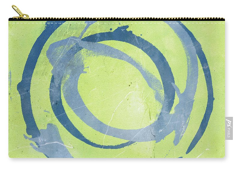 Green Carry-all Pouch featuring the painting Green Blue by Julie Niemela