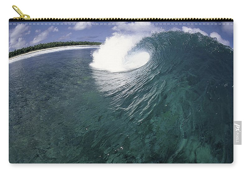 Ocean Energy Carry-all Pouch featuring the photograph Green Curl by Sean Davey