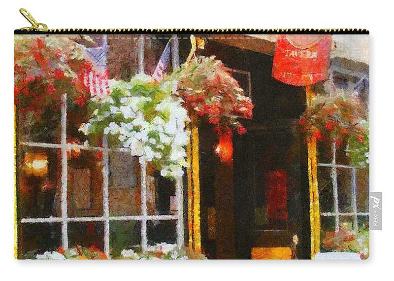 Bar Carry-all Pouch featuring the painting Green Dragon Tavern by Jeffrey Kolker