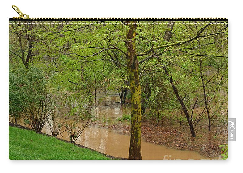 Spring Carry-all Pouch featuring the digital art Green by Eva Kaufman