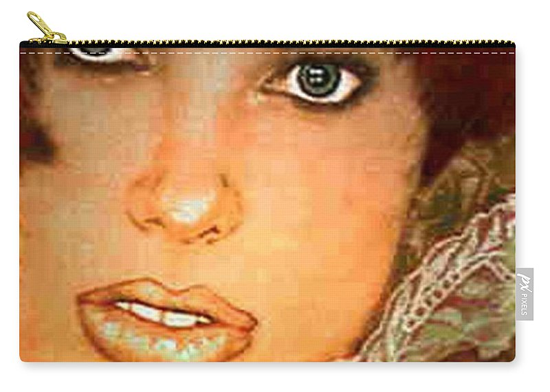 Portrait Carry-all Pouch featuring the photograph Green Eyed Redhead IIi by Ellen Cannon