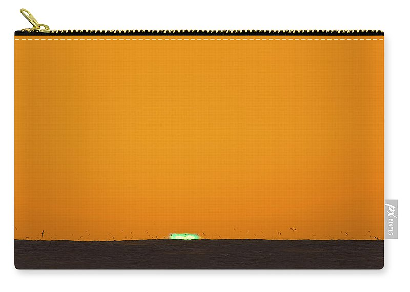 Green Flash Carry-all Pouch featuring the photograph Green Flash Bird Pile by Sean Davey