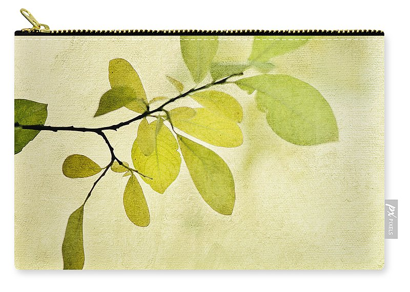 Foliage Carry-all Pouch featuring the photograph Green Foliage Series by Priska Wettstein
