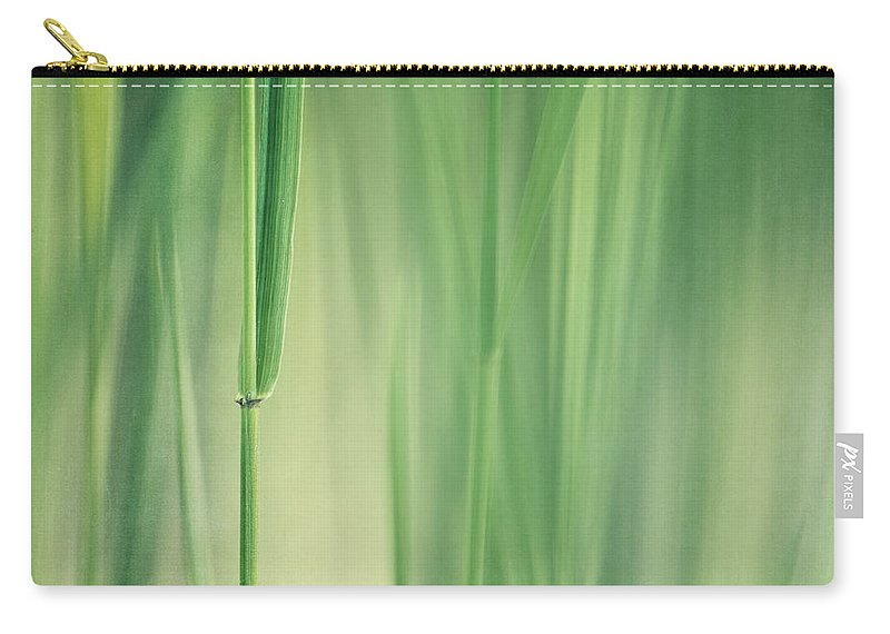 Grass Carry-all Pouch featuring the photograph Green Grass by Priska Wettstein