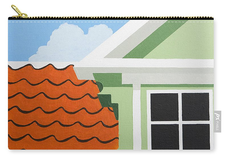 Painting Carry-all Pouch featuring the painting Green House by Trudie Canwood