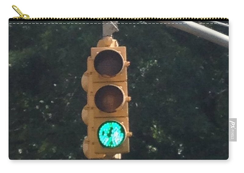Light Carry-all Pouch featuring the photograph Green Light by Christy Gendalia