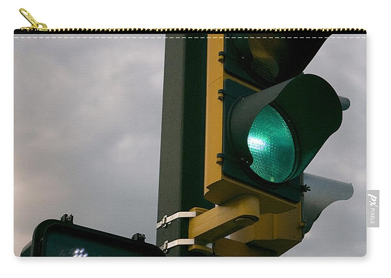 Green Light Carry-all Pouch featuring the photograph Green Light Walk by Jason O Watson