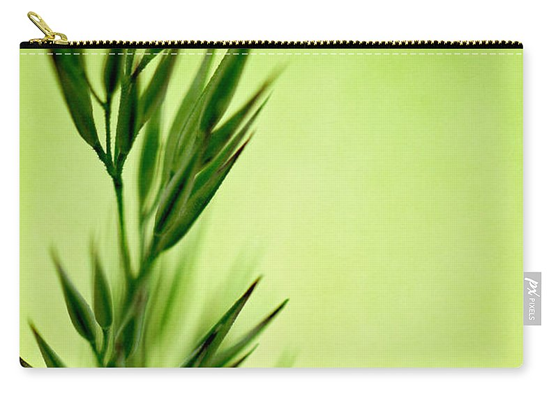 Green Carry-all Pouch featuring the photograph Green by Lois Bryan