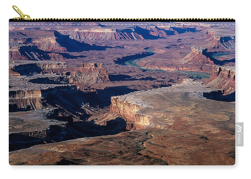 Buttes Carry-all Pouch featuring the photograph Green River Overlook by Tracy Knauer