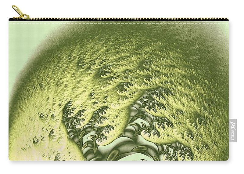 Malakhova Carry-all Pouch featuring the digital art Green Wave by Anastasiya Malakhova
