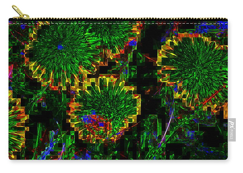 Green Carry-all Pouch featuring the photograph Greeness by Kathy Barney
