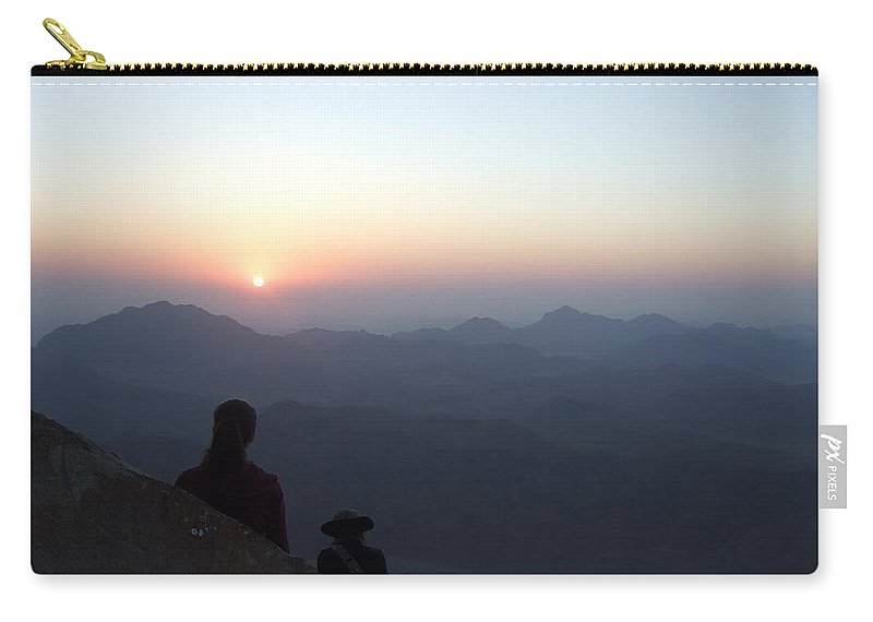 Egypt Carry-all Pouch featuring the photograph Greeting Sunrise On Sinai by Katerina Naumenko