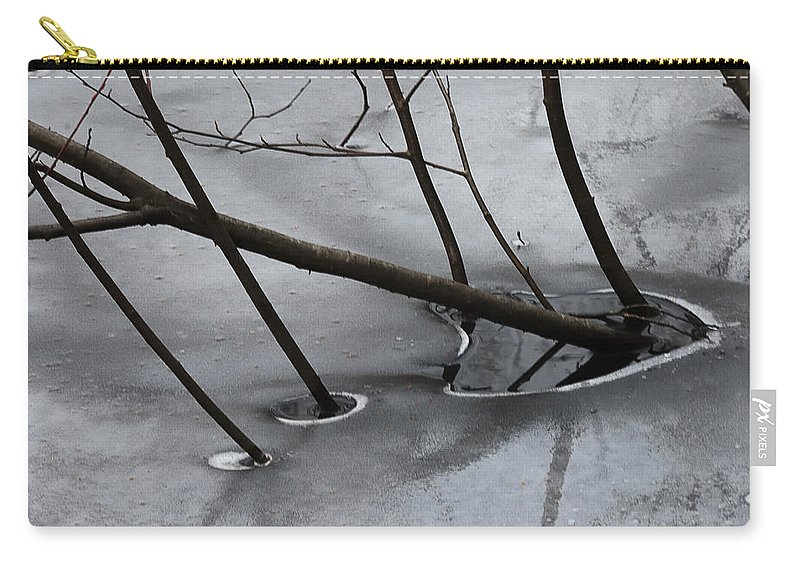 Abstract Carry-all Pouch featuring the photograph Grey Days Of November by Susan Capuano