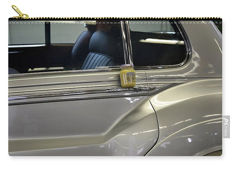 Rolls Royce Carry-all Pouch featuring the photograph Grey Poupon And Rolls Royce by Kathy Barney