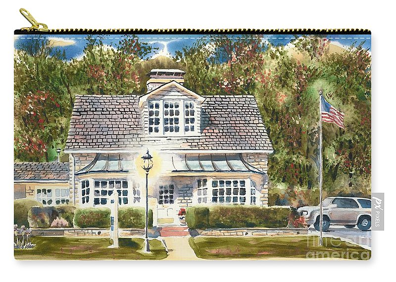 Greystone Inn Ii Carry-all Pouch featuring the painting Greystone Inn II by Kip DeVore