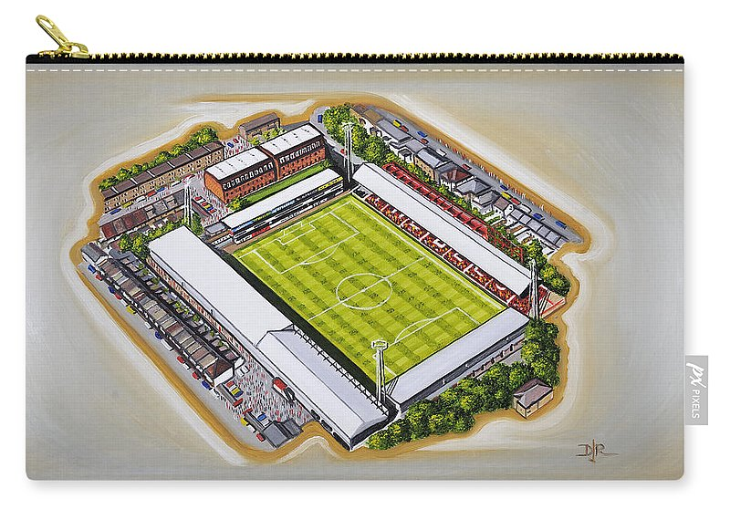 Art Carry-all Pouch featuring the painting Griffin Park - Brentford Fc by D J Rogers