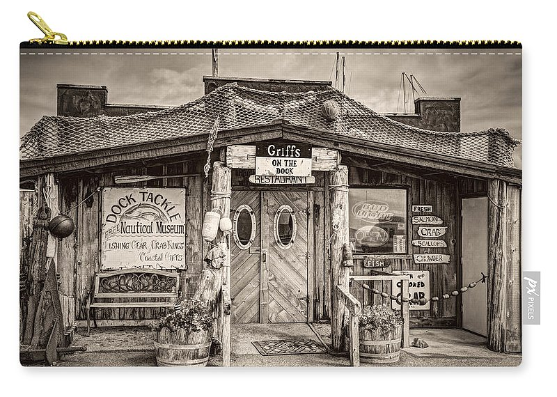 Antique Carry-all Pouch featuring the photograph Griffs On The Dock by Debra and Dave Vanderlaan