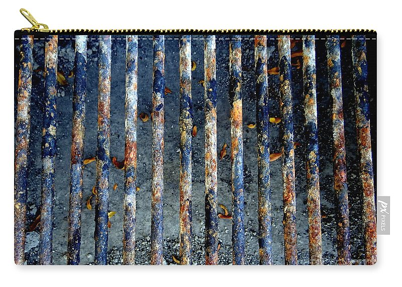Grate Carry-all Pouch featuring the photograph Grill Abstract by Ed Weidman