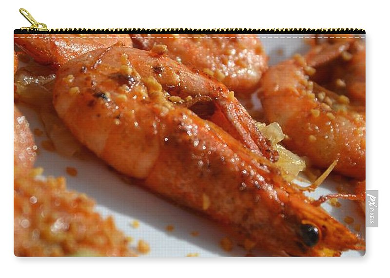 Shrimp Carry-all Pouch featuring the photograph Grilled Crustacean by Stephanie Guinn