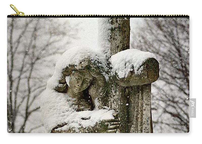 Winter Angel Carry-all Pouch featuring the photograph Grip Of Winter by Gothicrow Images