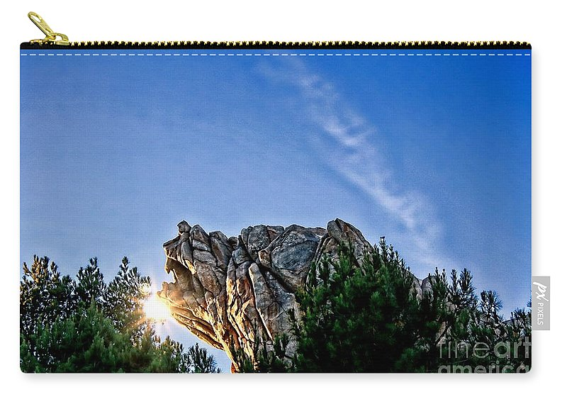 Grizzly Peak Carry-all Pouch featuring the photograph Grizzly Peak by Tommy Anderson