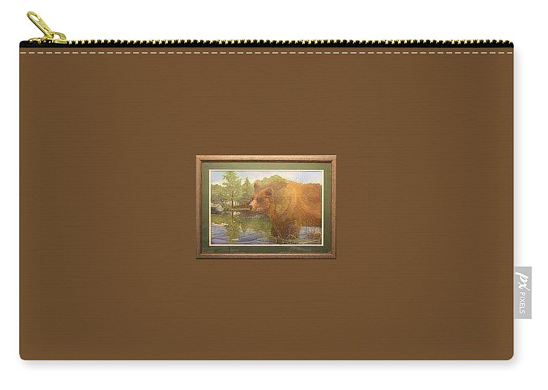 Rick Huotari Carry-all Pouch featuring the painting Grizzly by Rick Huotari