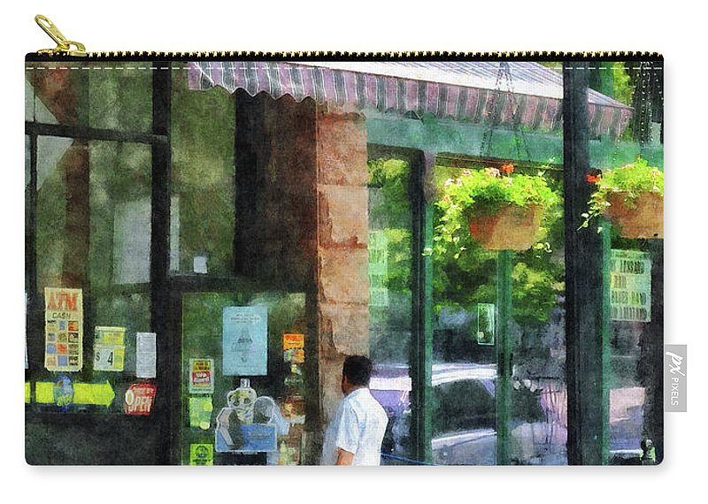 Albany Carry-all Pouch featuring the photograph Grocery Store Albany Ny by Susan Savad