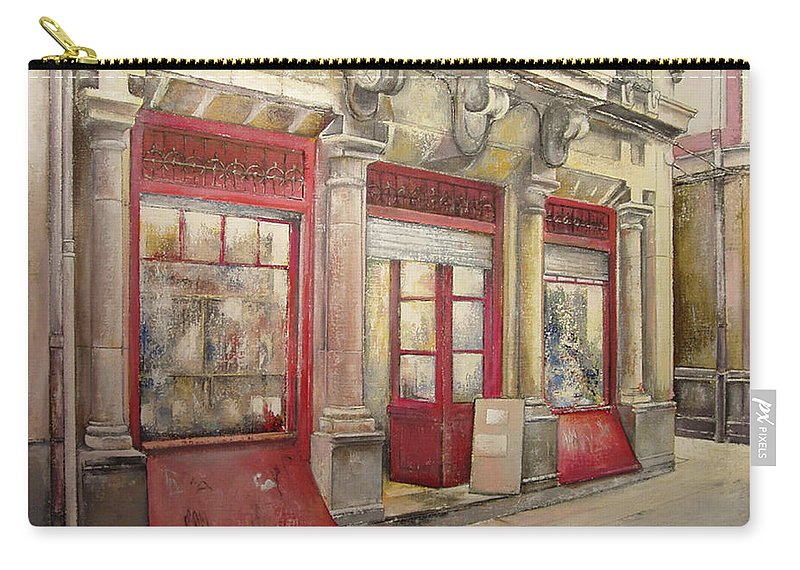 Grocery Store Carry-all Pouch featuring the painting Grocery Store in Old Town by Tomas Castano