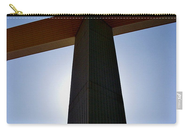 Cross Carry-all Pouch featuring the photograph Groom Texas Cross IIi by Marilyn Smith