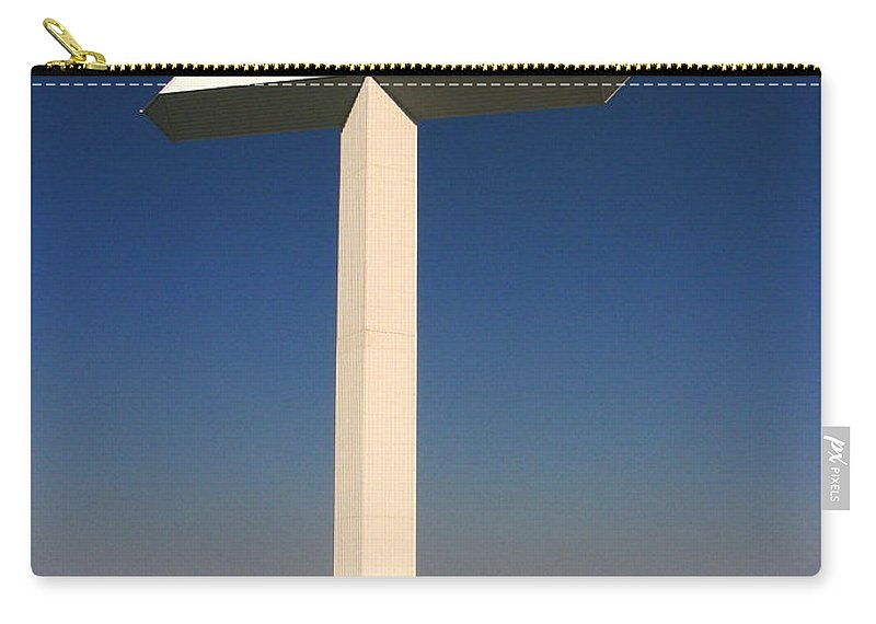 Cross Carry-all Pouch featuring the photograph Groom Texas Cross by Marilyn Smith