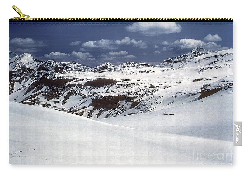 Mountain Tyrolean Mountains Snow Northern Italian Alps Snowscape Snowscapes Rock Landscape Landscapes Cloud Clouds Snow Grosglockner South Tyrol Carry-all Pouch featuring the photograph Grosglockner by Bob Phillips